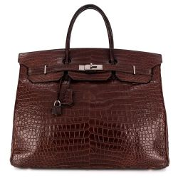 Hermès Cocoan Brown 40cm Crocodile Birkin Bag