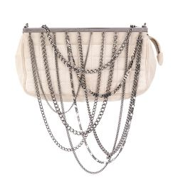 Chanel Chain Embellished Clutch Bag