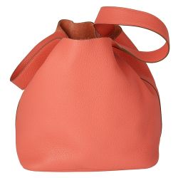 Hermes Rose Jaipur Picotin Leather Bag