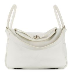 Hermes Blanc White 34cm Lindy Bag