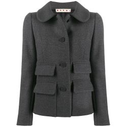 Marni Grey Buttoned Jacket