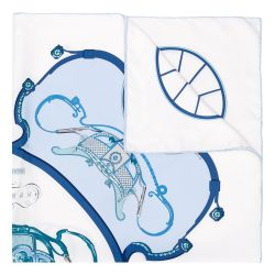 Hermès 'Springs' Carriage Print Silk Scarf