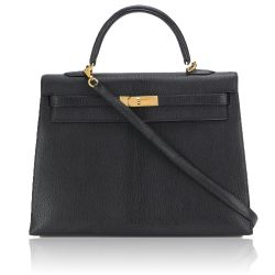Hermès Black 35cm Kelly Sellier Bag