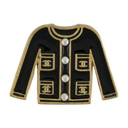 Chanel Enamel Jacket Brooch