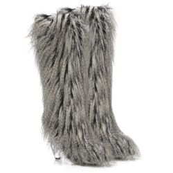 Chanel Tall Faux Fur Boots