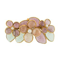 Chanel Gripoix Glass Flower Brooch SOLD