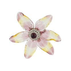 Chanel Crystal Lily Petal Brooch