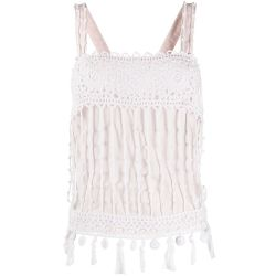 Chanel Powder Pink Crochet Vest Top