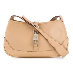 Gucci Beige Jackie-O Monogram Shoulder Bag