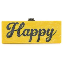 Edie Parker 'Happy' Clutch Bag