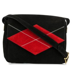 Céline Black Suede Shoulder Bag