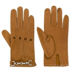 Céline Tan Brown Leather Gloves