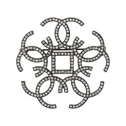 Chanel Interlocking CC Embellished Brooch