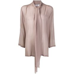 Chanel Dusty Rose Silk Shirt