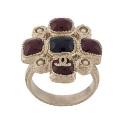 Chanel Gripoix Maltese Cross Ring