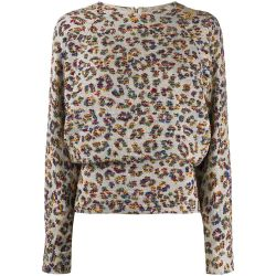 Chloe Textured Print Jumper