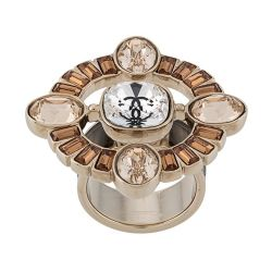 Chanel CC Crystal Embellished Ring