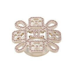 Chanel Floral Rhinestone Embellished Ring