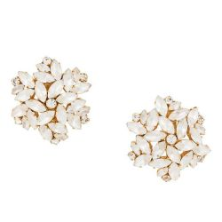 Dominique Aurientes Acrylic Pearl Clustered Earrings