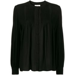 Chloe Black Silk Buttoned Top