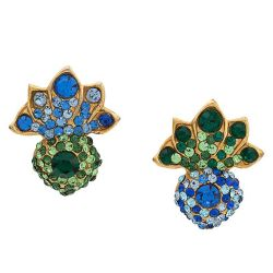 Lorenz Pineapple Crystal Embellished Earrings