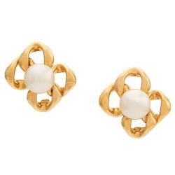 Square Pearl Embellished Earrings