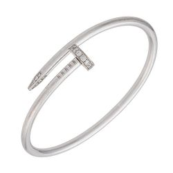 Cartier White Gold & Diamond Juste Un Clou Bracelet