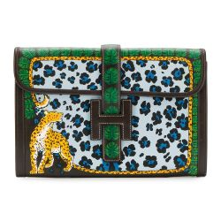 Hermes Customised Jige PM Swift Clutch Bag