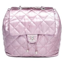Chanel Purple Iridescent Quilted Ground Control Backpack
