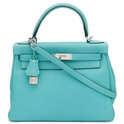 Hermes 25 Kelly Blue Atoll