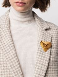 Chanel Love Heart Brooch