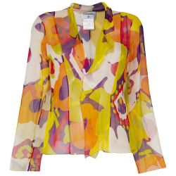 Chanel Abstract Print Blouse