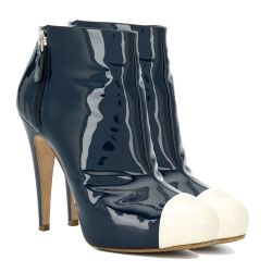 Chanel Bi-colour Patent Ankle Booties