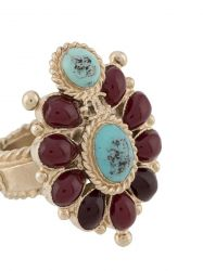 Chanel CC Embellished Gripoix Glass Ring