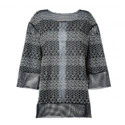 Chanel Embroidered Heart and Mesh Top