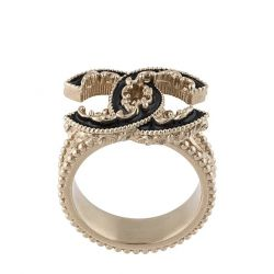 Chanel Gold Pearl CC Ring