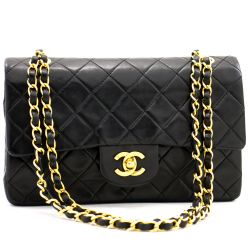 Chanel Gold Small Double Flap Bag