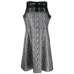 Chanel Jacquard Silver and Black Dress 2016