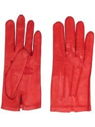 Chanel Leather Gloves Red
