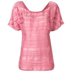 Chanel Pink Striped Layer Top