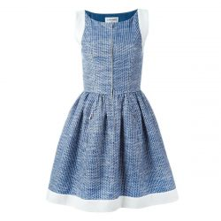 Chanel Vintage Pleated A-Line Dress