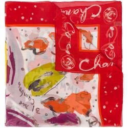 Chanel Scarf Red dot Red/Multi