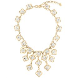 Christian Dior Vintage Gold Chain Necklace with Clear Stones