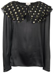 Valentino Polka Dot Satin Blouse