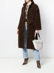 Yves Saint Laurent Brown Belted Coat