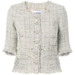 Chanel Cream Tweed Jacket
