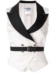 Vintage Chanel Belted Waistcoat