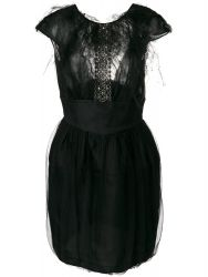 Valentino Embellished Black Silk Dress