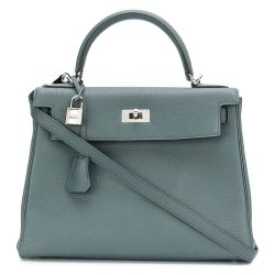 Hermès 25cm Steel Blue Kelly Bag