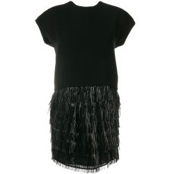 Balenciaga Fringed Cocktail Dress